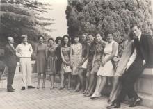 Gruppo di allievi del Corso di perfezionamento a Villa Elena di Lugano 1969